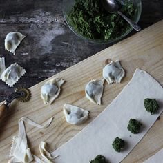 Vegan Greens and Sunchoke Ravioli