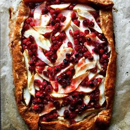 Cranberry-Apple-Pear Slab Galette