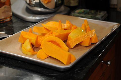 Caramelized Butternut Squash Wedges with a Sage Hazelnut Pesto Recipe ...