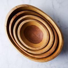 Handcrafted Organic Edge Wood Bowls