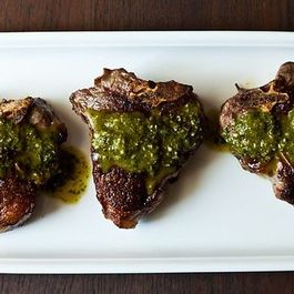 Dinner Tonight: Chimichurri Lamb Chops & Cauliflower Soup