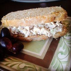 Chicken & Apple Salad on Lemon Poppy Seed Bread