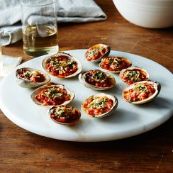 Baked Clams Amatriciana