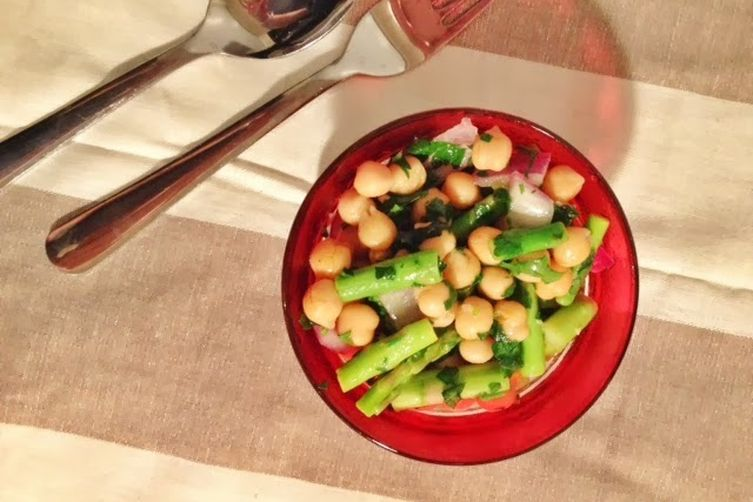 Chick Pea, Asparagus and Truffle Salad