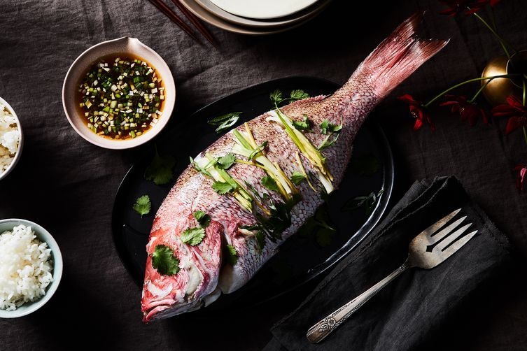 Ginger-Onion Whole Steamed Fish