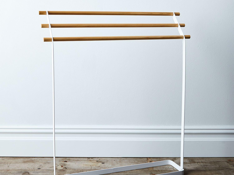 Steel & Wood Linen Rack on Food52