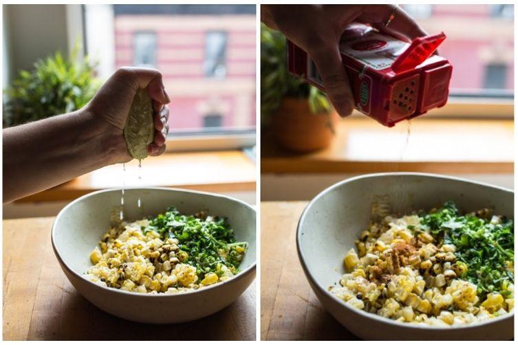 Charred Corn and Lime Salad