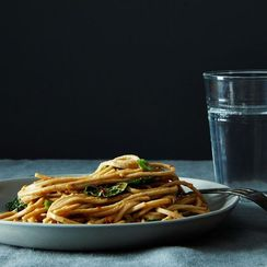 Dinner Tonight: Spicy, Peanutty Udon with Kale