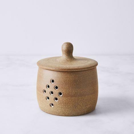 Handmade Stoneware Garlic Pot