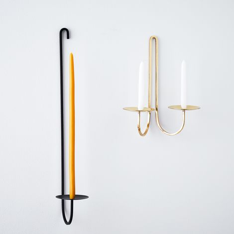 Taper Candleholder Wall Sconce & Candles
