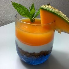 Mint and melon cheesecake