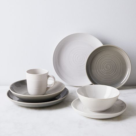 William Mason Ceramic Dinnerware (12-Piece Set)