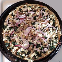 Spinach-Chicken-Feta Thin Crust Pizza + Variations