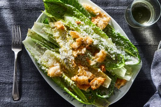 Roasted Seaweed Caesar Salad With Anchovy Croutons