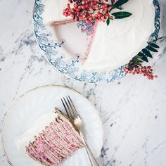Almond Crepe Cake with Raspberry-Rose Cream