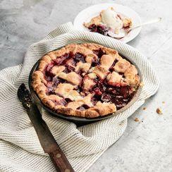 Curtis Stone's Cherry-Amaretto Lattice Pie