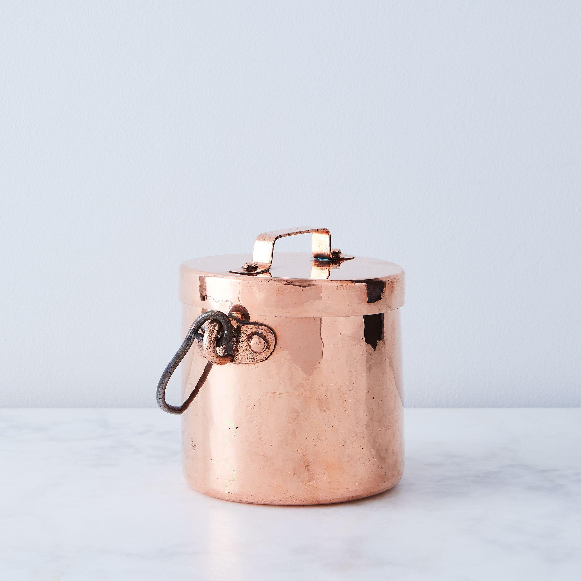 Vintage Copper Petite French Marmite Pot, Mid 19th Century