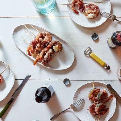 Mint & Prosciutto Grilled Shrimp