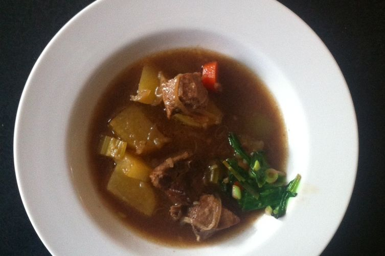 Lamb Stew with Quick-braised ramp garnish