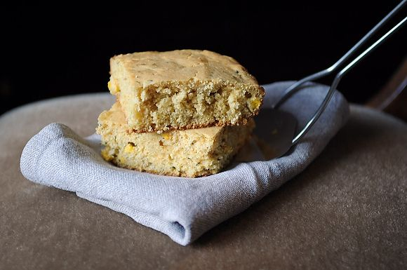 Double-Corn Corn Bread with Fresh Thyme