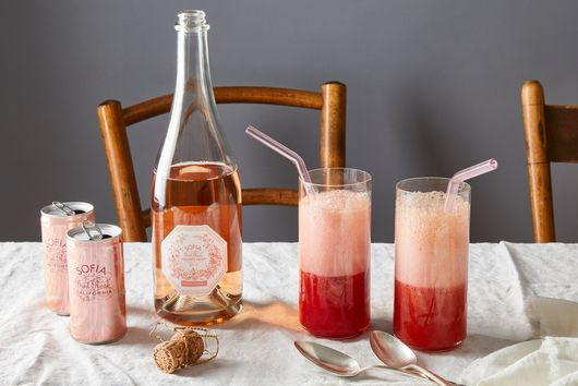 Raspberry, Orange & Sparkling Rosé Slushies