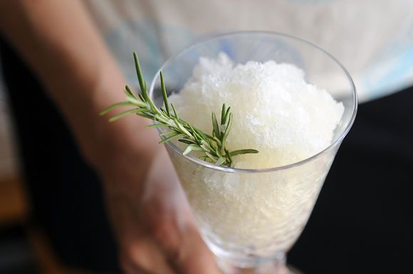 Herb and White Wine Granita
