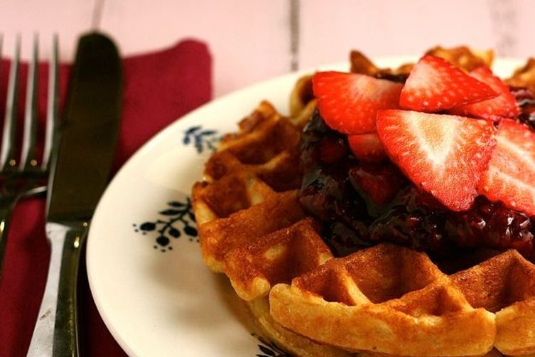 recipe: cornmeal waffles egg whites [34]