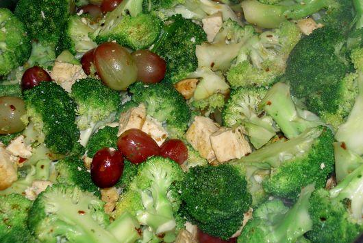 Broccoli,Tofu, and Grape Sautee
