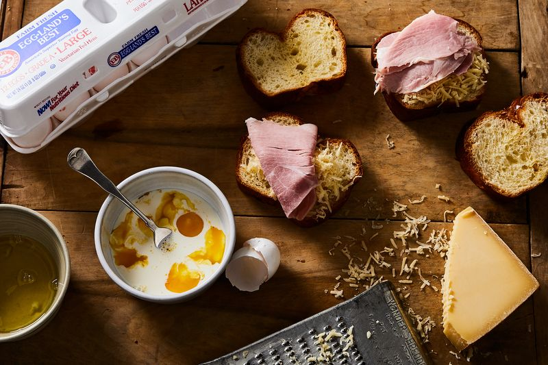 A quick soak in EB eggs whipped with cream make this leftover champ extra delicious.
