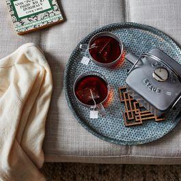 Laser-Cut Walnut Teapot Trivet