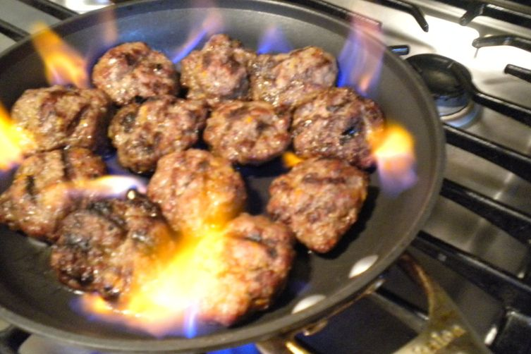 Meatballs Aflame!