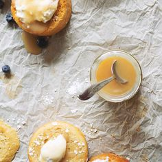 Buttermilk Cakes with Honey Caramel