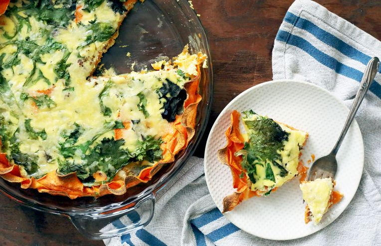 A Cheesy, Creamy No-Fuss Quiche With an Unexpected (Gluten-Free!) Crust