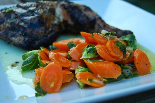 Sauteed Carrots & Brussels Sprouts