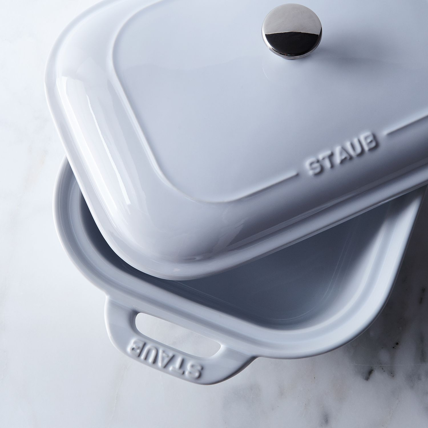 Staub White Ceramic Covered Baking Dish On Food52