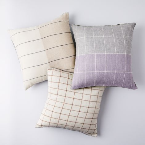 Super Soft Alpaca Grid Pillows