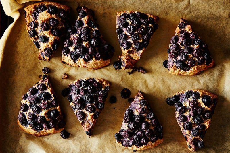 Coconut Spelt Scones with Blueberries