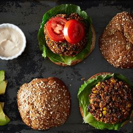 veggie burgers by amanda hollingworth