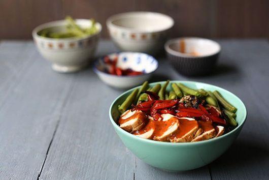 Tasty turkey enchilada bowl