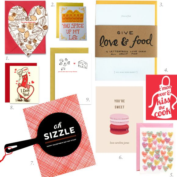 Garnish: Valentine's Day cards