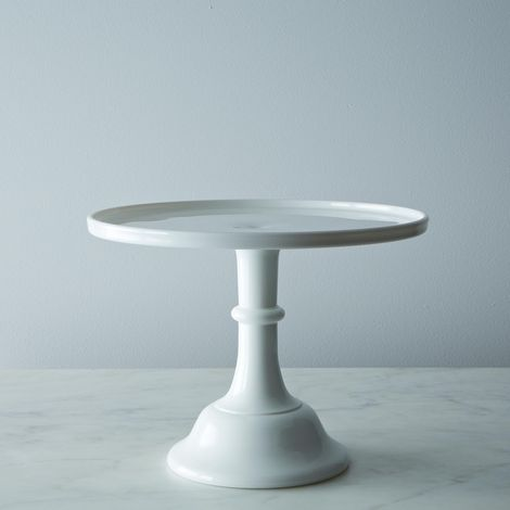 "Milk Glass 10"" Cake Stand"