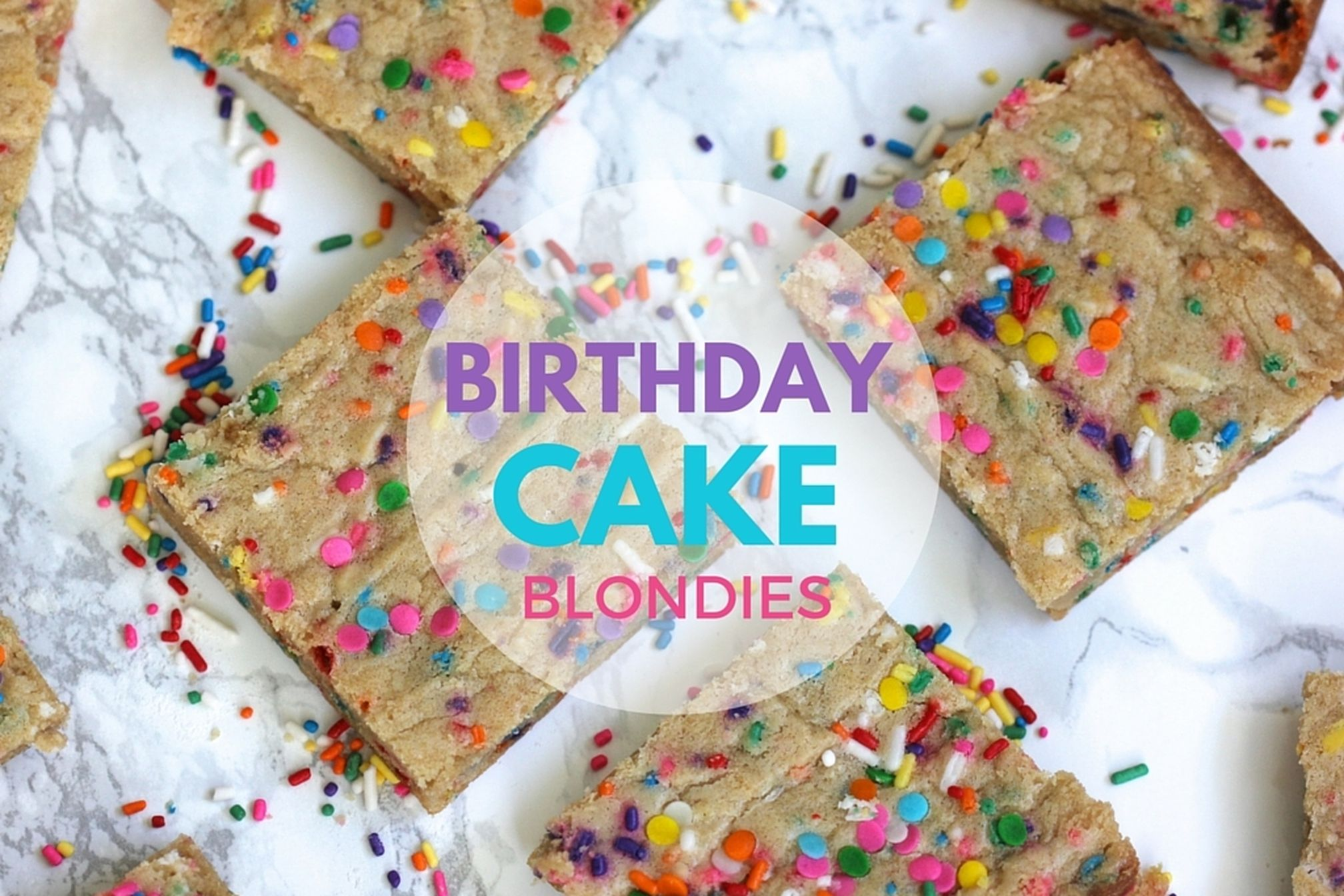 Enjoyable Birthday Cake Blondies Recipe On Food52 Funny Birthday Cards Online Fluifree Goldxyz