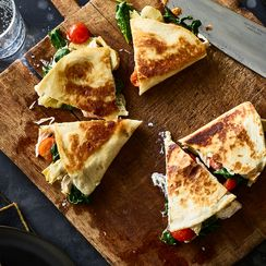Creamy Chicken Florentine Quesadillas