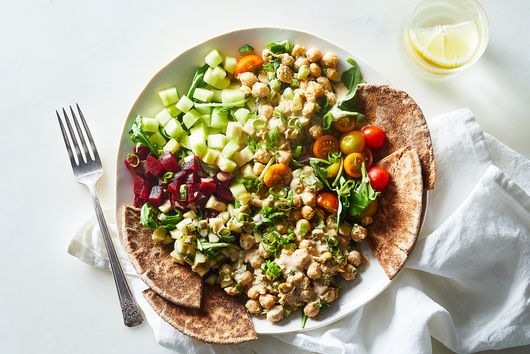 Gena Hamshaw's (Vegan) Deli Bowls With Smashed Chickpea Salad