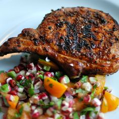 Cumin-Crusted Pork Loin Chop