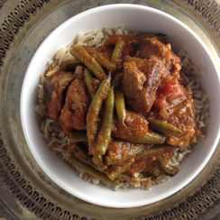 Persian Green Bean Stew with Lamb