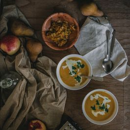 Roasted Kabocha Squash and Parmigiano Soup