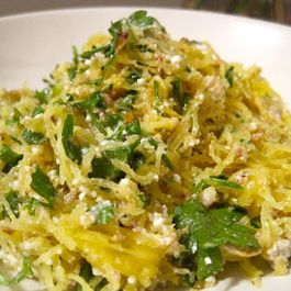 Spaghetti Squash with Ricotta, Hazelnuts & Parsley