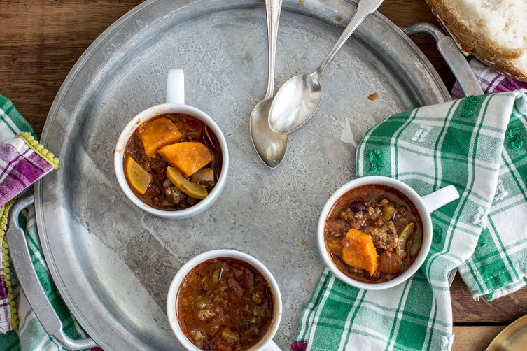 Grass Fed Sweet Potato Chili