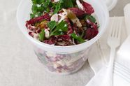 Chicken and Radicchio Salad  with Pickled Raisins and Walnuts